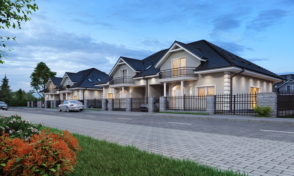 Bielany Legnickie Osiedle domów w zabudowie bliźniaczej